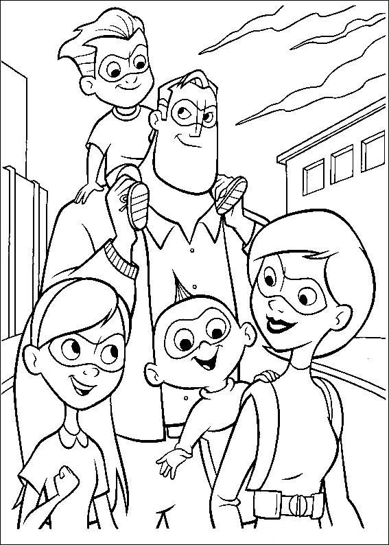 Image Result For Coloring Pages The Incredibles Family Coloring Pages Superhero Coloring Pages Coloring Pictures