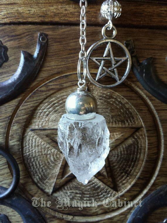 Pendulum. Raw Crystal Quartz, Divination Tool, Pendulum, Crystal Pendulum, Witchcraft Tool, Quartz Crystal, Spiritual Supply, Scrying #3