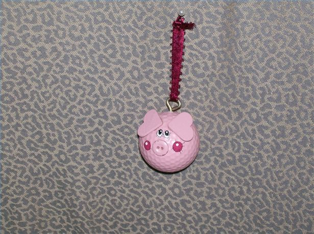 How to Make a Golf Ball Pig Ornament - could use plastic practice golf balls to be more economical for a large group craft