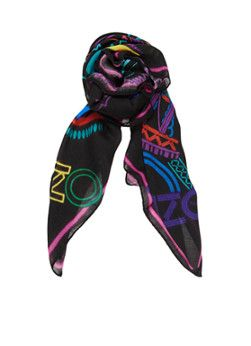 Kenzo Vierkante sjaal Neon