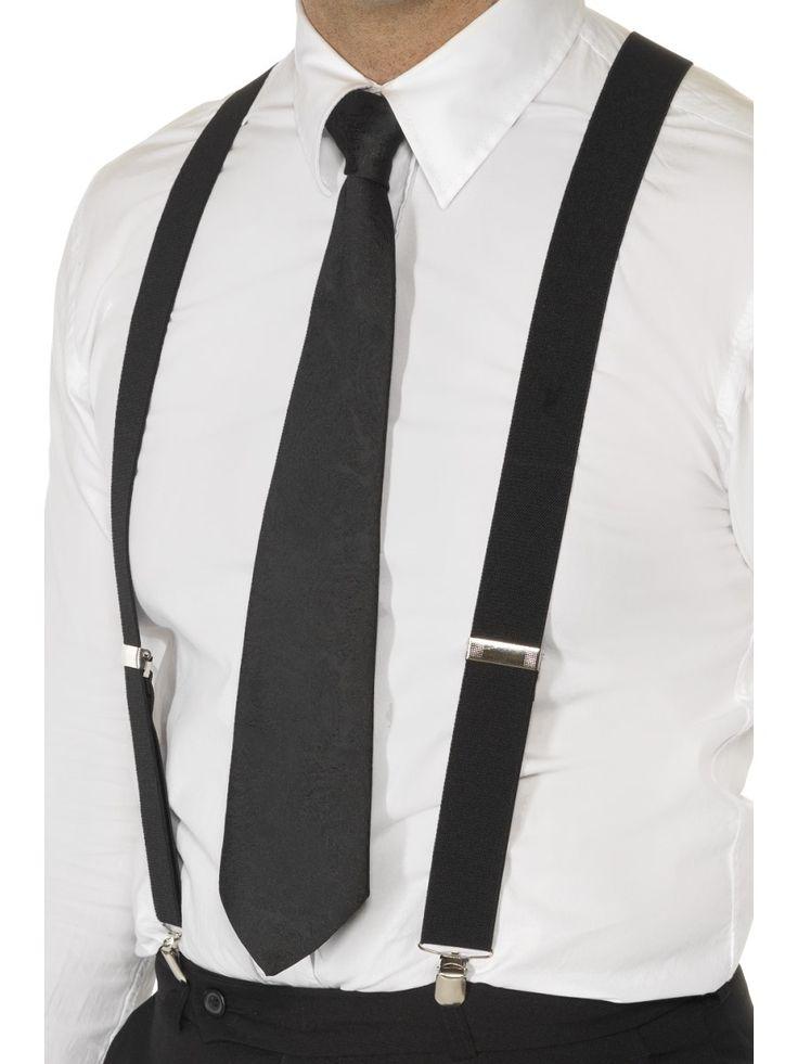 Henkselit. 20-luvun herrasmiehen viimeisteltyyn tyyliin kuuluivat tietenkin myös henkselit.