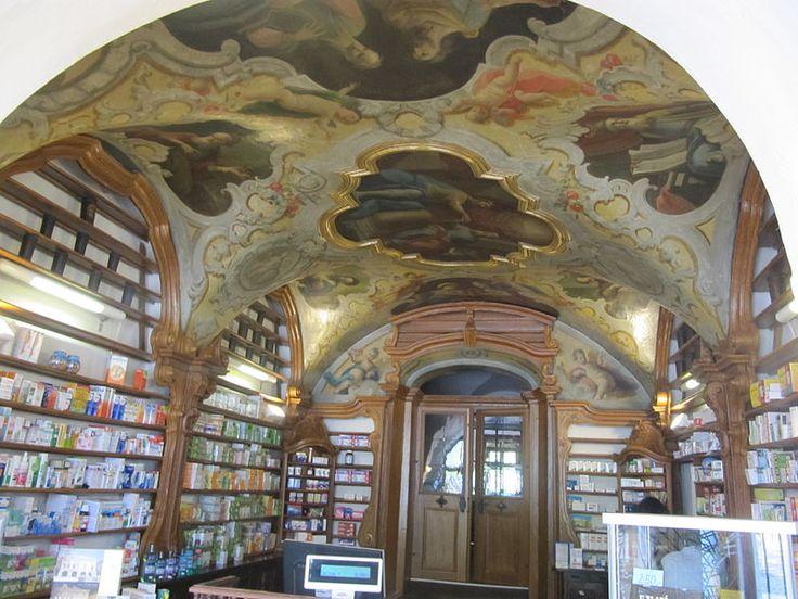 Uherské Hradiště, Czech Republic. Historical pharmacy, interior from 18-th century.