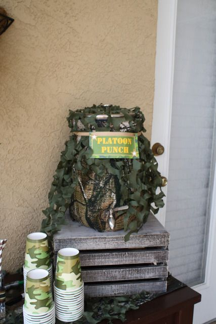 "army themed party- ""platoon punch""!"