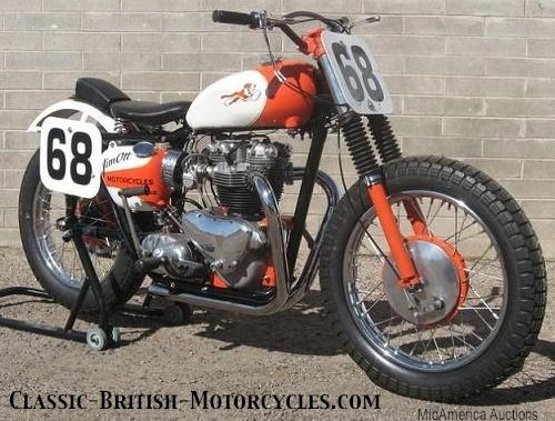 vintage flat trackers | flat track racers, pitty tink, Triumph tiger flat tracker, racing ...