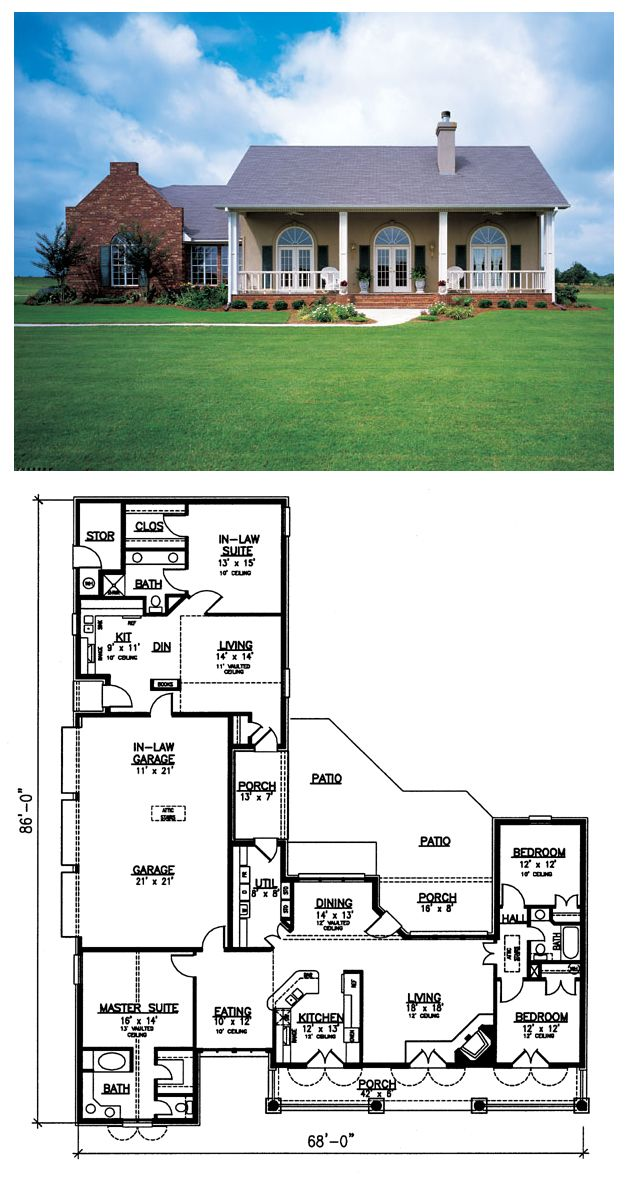 16 best house plans with in law suites images on pinterest for Coolhouseplans com
