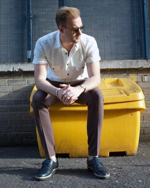 Summer vibes with or brand friend and musician @eaxeljansson wearing Stig Percy brogue inspired shoes