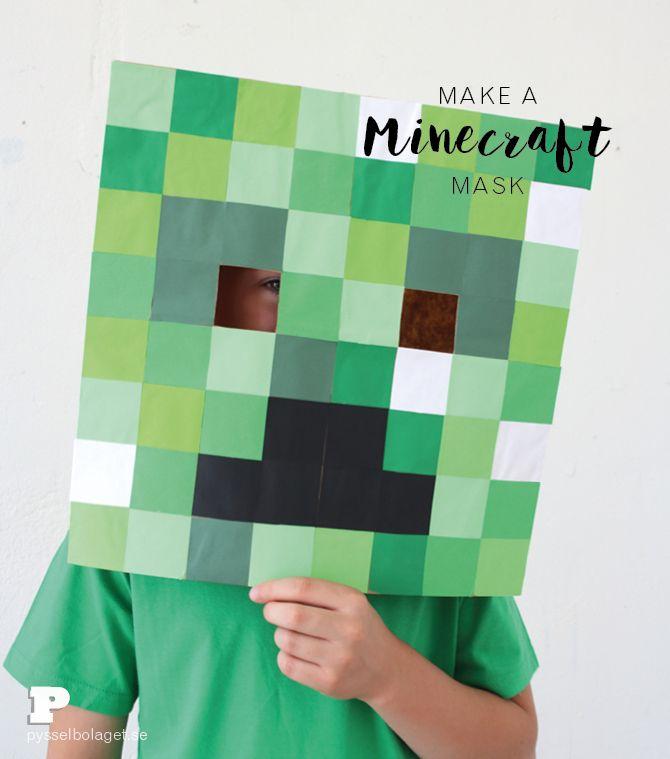 Gör en egen Minecraft-mask! // Pysselbolaget