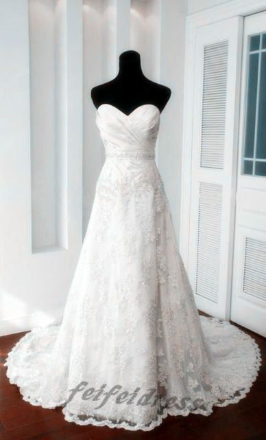 Wedding dresses lace wedding dress wedding dress by feifeidress, $220.00
