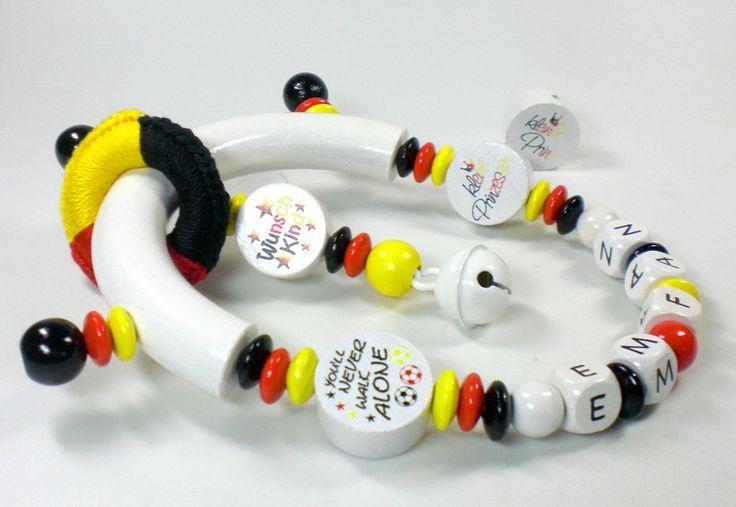 Rasseln & Greiflinge - Greifling mit Namen Fußball Deutschland EM - ein Designerstück von Karine-Luedcke bei DaWanda