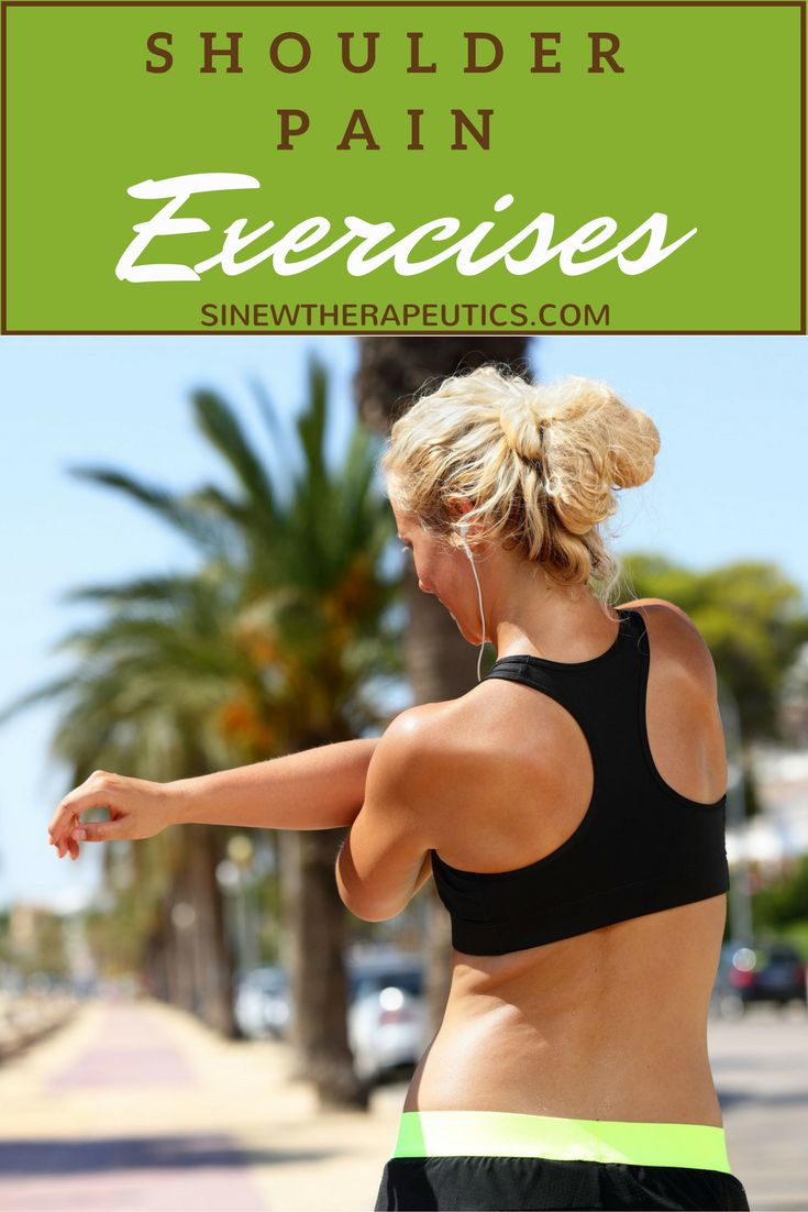 Shoulder Pain Exercises to strengthen flexibility of the muscles and joints. Learn more at SinewTherapeutics.com