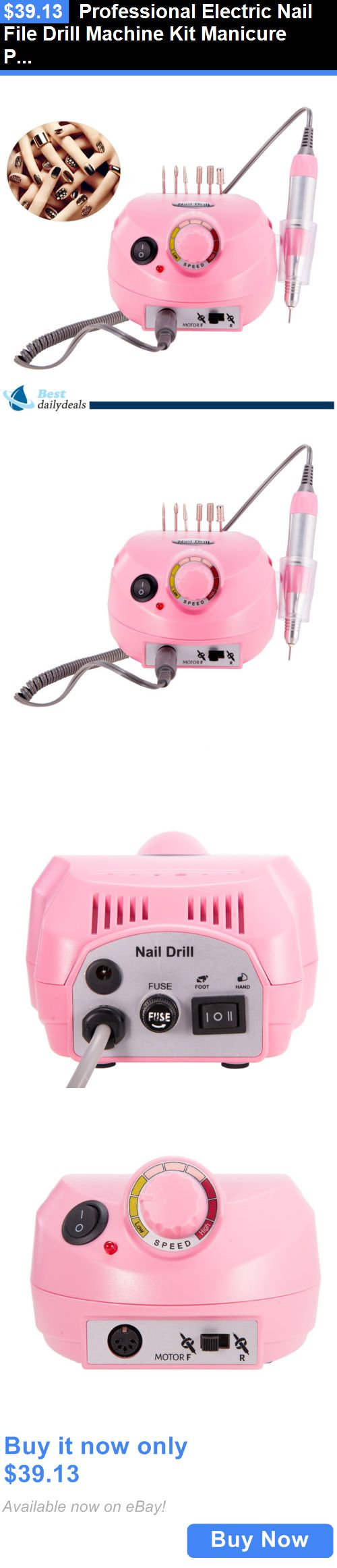 Electric Files and Tools: Professional Electric Nail File Drill Machine Kit Manicure Pedicure Art 30000Rpm BUY IT NOW ONLY: $39.13