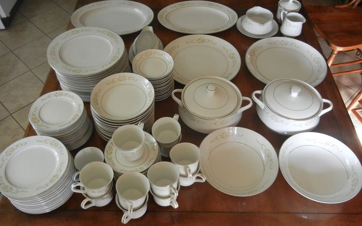 110 Pc LADY CAROLYN Fine China of Japan 14 Place Settings + Serving Pieces #FineChinaofJapan