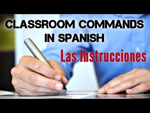 This video covers 10 important Spanish verbs in a classroom – 10 verbos para el aula de clases. It is part of a lesson about classroom expression in Spanish and common Spanish classroom questions. We included pictures related to activities you can do in a Spanish class. You will see some common teacher´s instructions in Spanish, how to use TENER QUE to talk about obligations in Spanish and sequencing words.