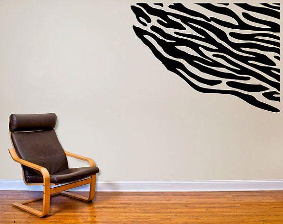 Zebra Print Wall Decal by overlyattacheddecals on Etsy, $35.99  Kids, Children