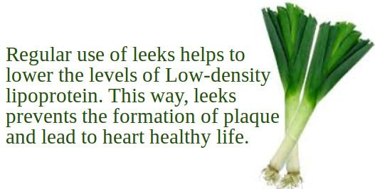 How Leeks are helpful to main healthy life