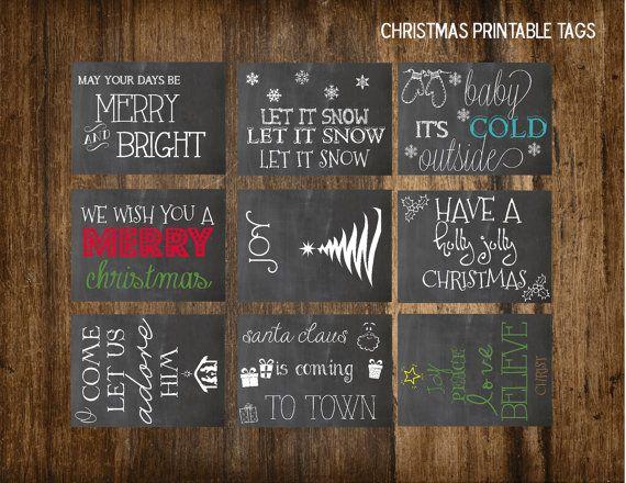 Printable Chalkboard Christmas Tags-Digital by StephAnnDesigns