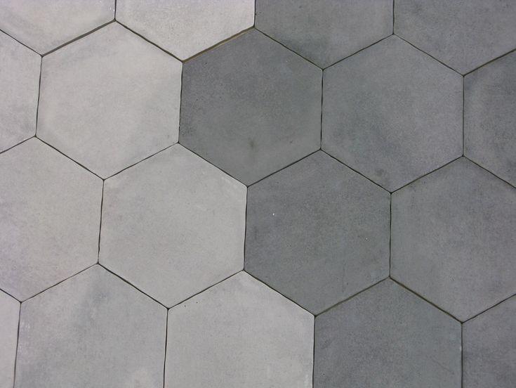 Les 25 meilleures id es concernant carrelage hexagonal sur pinterest salle - Carrelage gris blanc ...