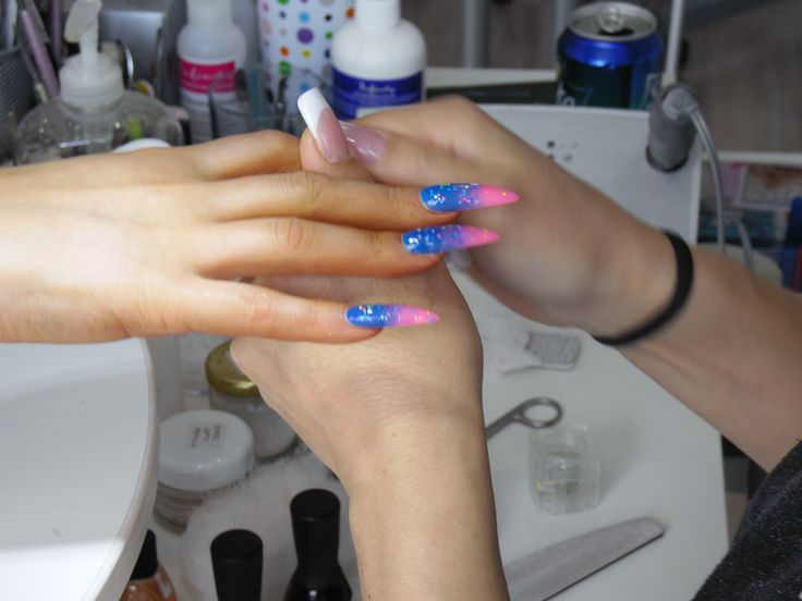 Blue and Pink in the making