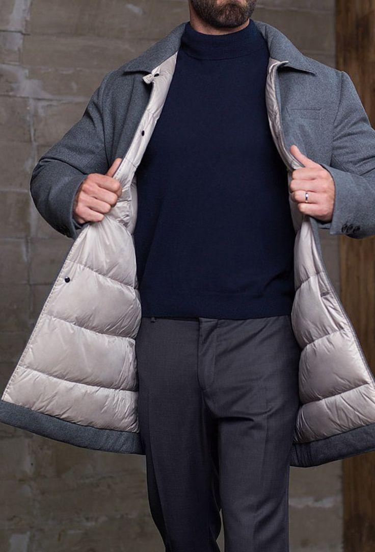 Мужская коллекция. Кашемировое пальто на пуху. Laplandia For Man
