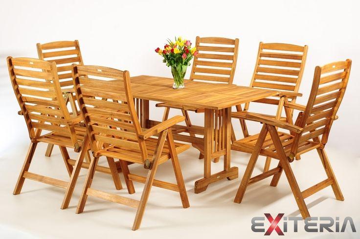 Drevený záhradný nábytok - zostava Kirk 8 | MT-nábytok.sk