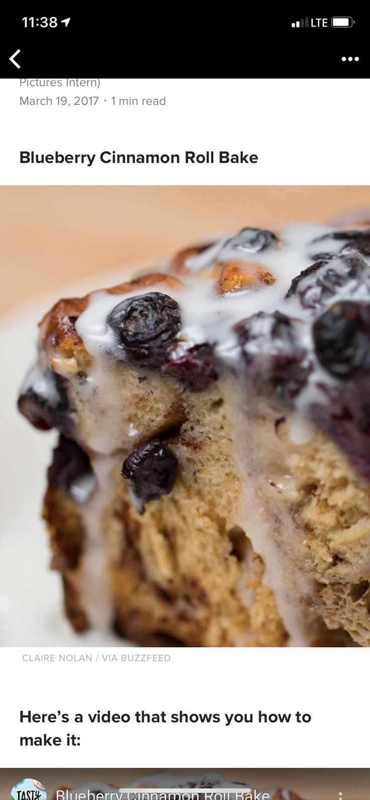 Blueberry Cinnamon Roll Bake Cinnamon roll bake