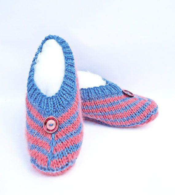 Hanknitted Women Slippers Short Socks Striped by evefashion