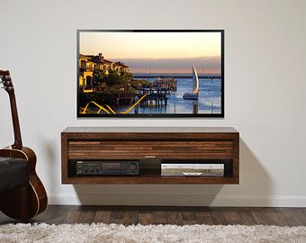 Wall Mount Entertainment Center ECO GEO Mocha 3PC by WoodwavesInc