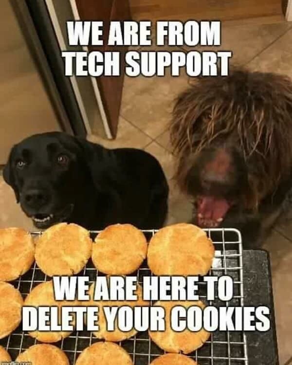 Tech Support Funny Dog Memes Funny Animal Memes Funny Animals