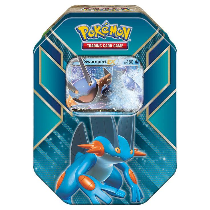 Pokemon Trading Card Game Hoenn Power Sprint Tin featuring Swampert