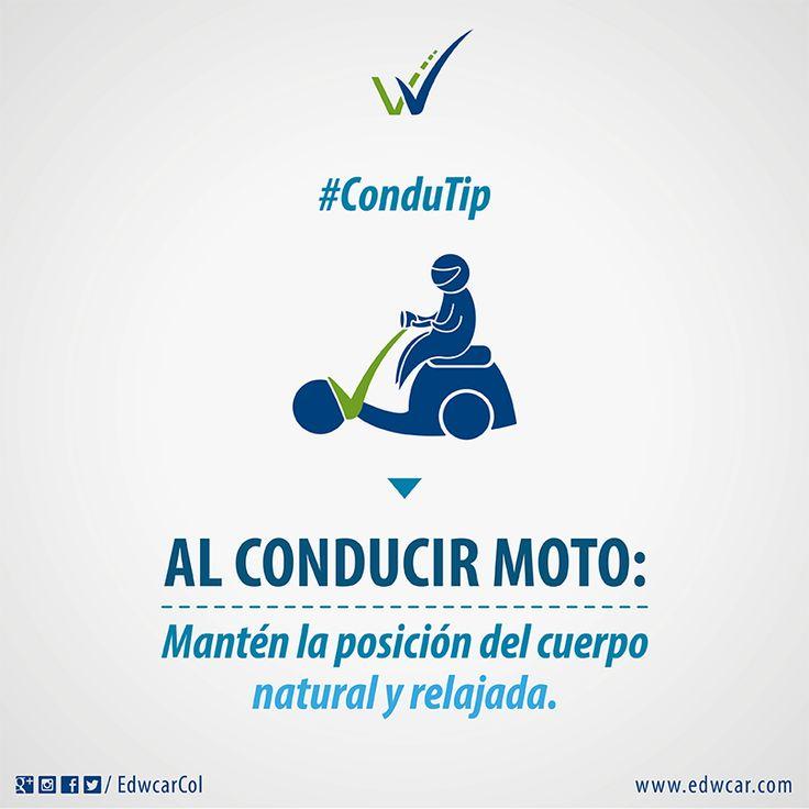 Motociclista: tu cuerpo es tu aliado a la hora de conducir. Una buena postura puede salvar tu #VidaEnLaVía.