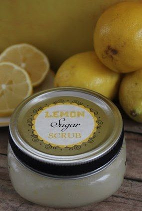 Homemade Lemon Sugar Scrub -  easy gift idea for Christmas