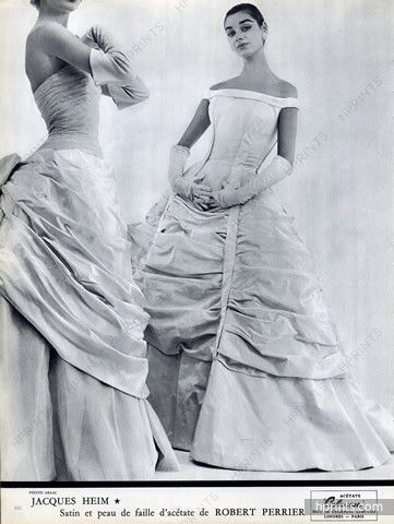 Jacques Heim 1955 Evening Gown, Photo Guy Arsac