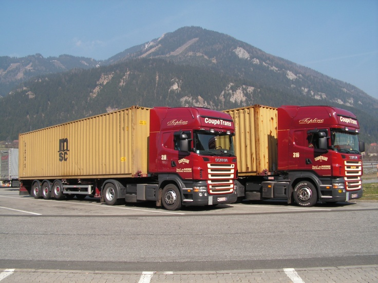 Scania truck with ISO (shipping) 40' container