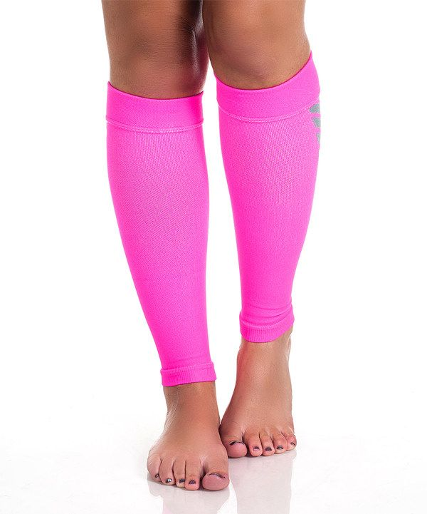 Look at this Remedy Pink Calf Compression Running Sleeves on #zulily today!
