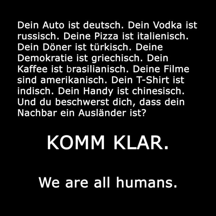 #we are all humans