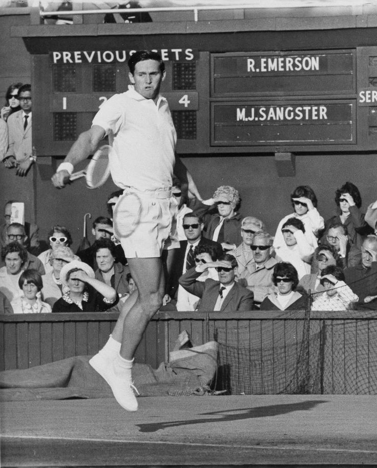 Roy Emerson - 1965 Wimbledon Men's Singles Second Round.