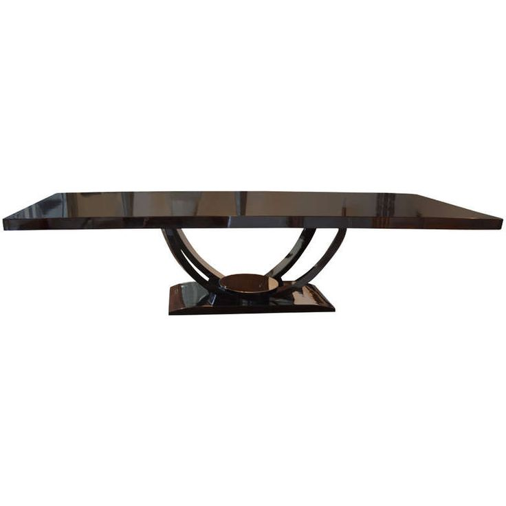 Gorgeous Dominique Art Deco Dining Table | From a unique collection of antique and modern dining room tables at https://www.1stdibs.com/furniture/tables/dining-room-tables/