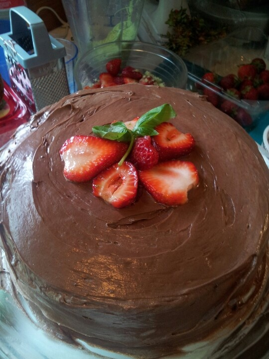 Devil's Food Cake With Milk Chocolate Frosting Recipe ...
