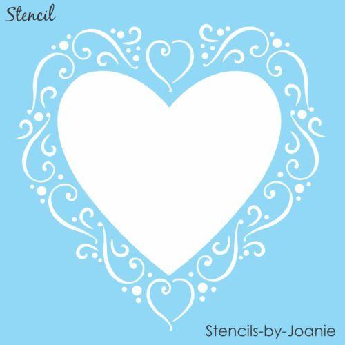 """Джоан оригинальная искусства трафарет 6 """"кружева Swirl Dot любовь сердце французский шик знаки карты"""