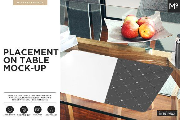The Placemat on the Table Mock-up by Mocca2Go/mesmeriseme on @creativemarket