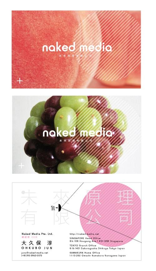 naked media 未来原理有限公司 namecard    Data : 2012.2  Client : 未来原理有限公司  Design : 市角壮玄(hoxaigraphics)
