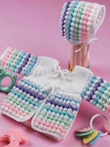 kız bebek örgü elbise modelleri-1