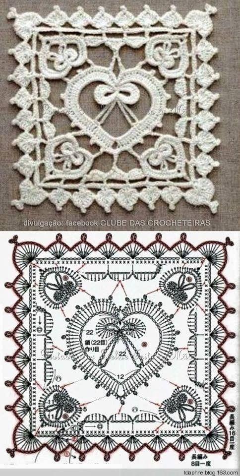 Crochet Heart 5..