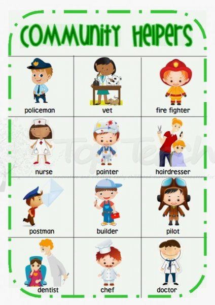 community helpers desk chart | We Know How To Do It