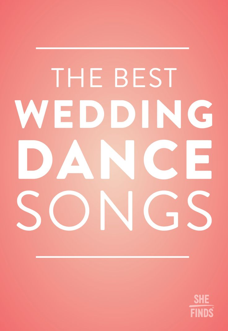 The Best Wedding DANCE Songs