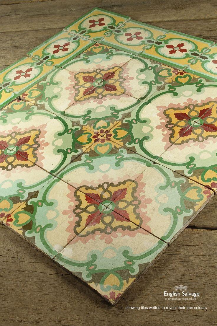 53 best antique tiles images on pinterest salems lot black antique encaustic decorative cement tiles dailygadgetfo Gallery
