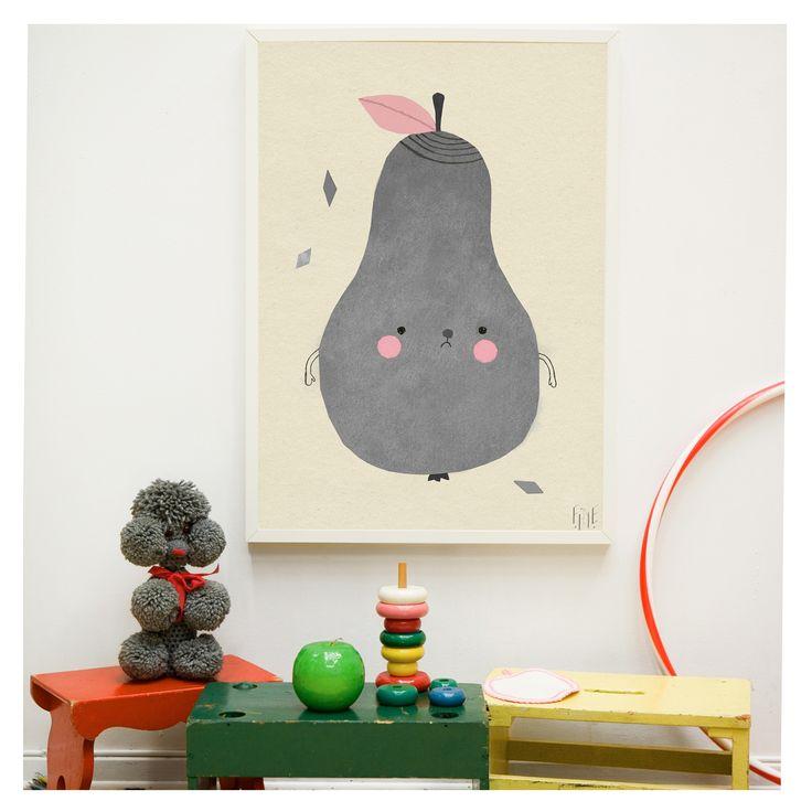 Poster PIRUM PARUM Süßes Poster fürs Kinderzimmer designed by Elisabet