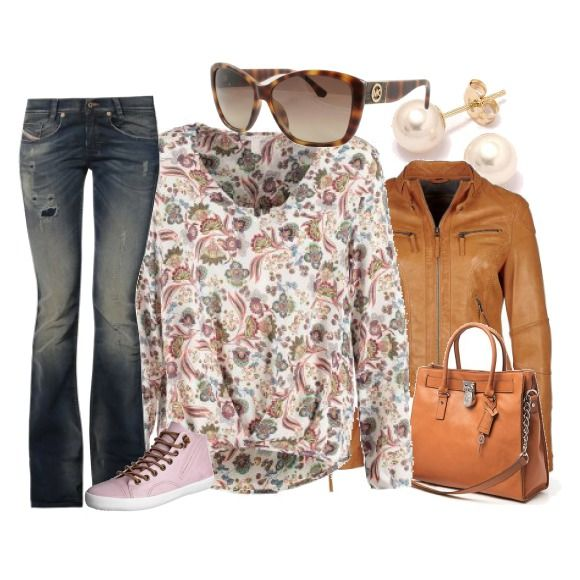 Colourful spring outfit.