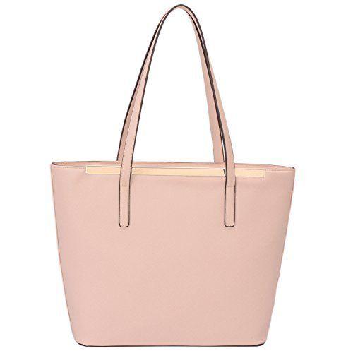 Davidjones Women S Top Handle Shoulder Handbags Tote Purse Pink