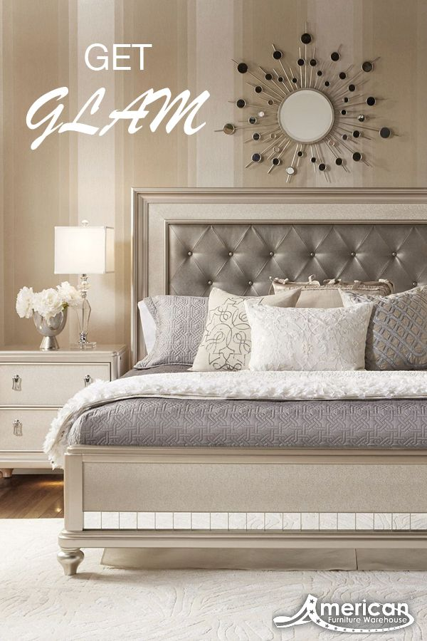 Diva Queen Bed | Paid_Board in 2019 | Champagne bedroom ...